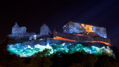 Volcanic: The images will be projected onto Edinburgh Castle.