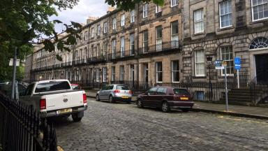 Incident: The man was found behind buildings on Fettes Row.