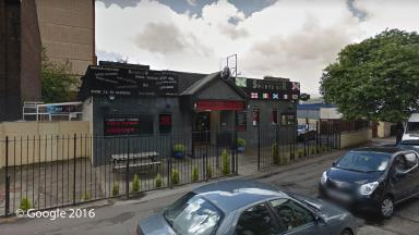 Sports bar: The victim was taken to Edinburgh Royal Infirmary.