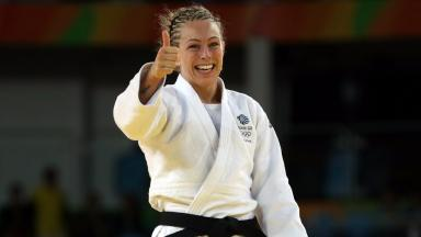 All smiles: Sally Conway won her first Olympic medal.
