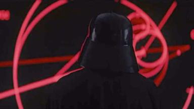 Darth Vader appears in the closing seconds of the trailer.