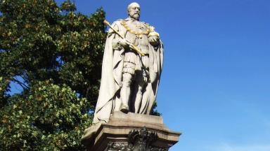 Edward VII: Man 'climbed city centre statue' (file pic).