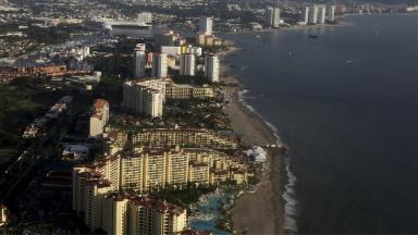 The city of Puerto Vallarta is a popular beach resort.