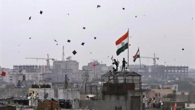 The deaths occured whilst people in Delhi were celebrating Independence Day