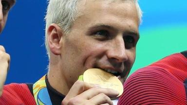 Ryan Lochte won a gold medal in the men's 4x200m freestyle relay.