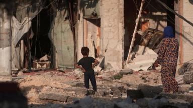 Syrians remain starved of vital supplies as daily attacks reduce shops and buildings to rubble.