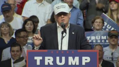 Donald Trump: The Republican nominee was speaking in Michigan.