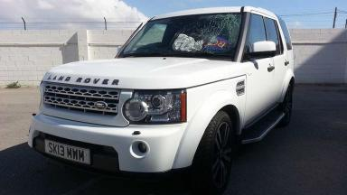 Land Rover: The vehicle was abandoned after it knocked down Mr Sneddon.