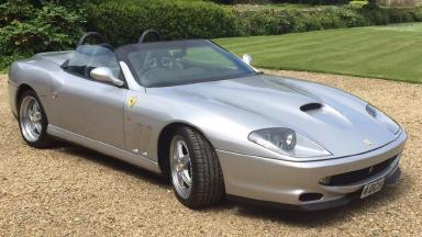 The Ferrari was stolen on Monday in Southrop, Gloucestershire.
