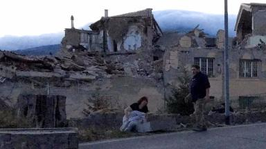 Ruins: The town of Amatrice was severely damaged in the earthquake.