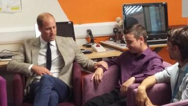 Prince William sympathetically touched Ben's arm as they spoke about bereavement.