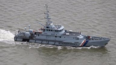 An archive photograph of a UK Border Agency patrol boat
