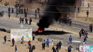 The miners strike in Bolivia turned violent this week.