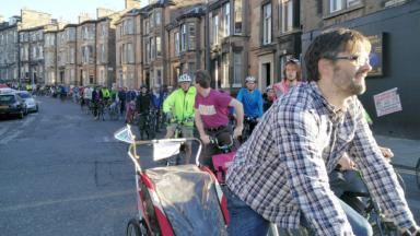 Campaign: Cyclists rode in support of the direct cycle route on Monday.