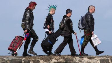 Meet the punks making the pilgrimage to a remote Scottish festival