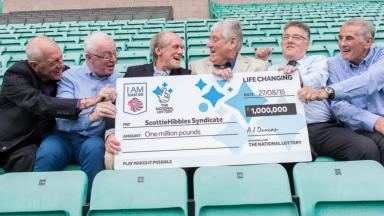 Celebration: The winners scooped £1m in the medal draw.