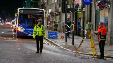 Union Street: Man dies after being knocked down by bus.