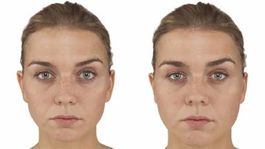 Research: 'Original' and 'heavy' faces shown to subjects.