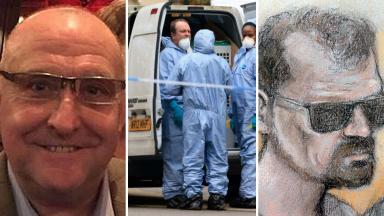 Death: Stefano Brizzi, right, accused of murdering Gordon Semple.