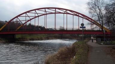 Bonhill Bridge: Man was rescued from River Leven in West Dunbartonshire.