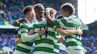 Joy: Celtic took bragging rights with a comprehensive victory.