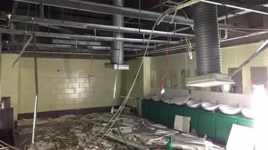 Celtic Park: Toilets damaged following Old Firm derby.