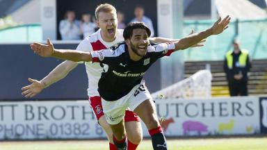The tricky forward netted his first for Dundee, but it was not enough for the three points.