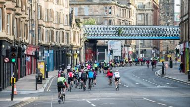 Pedal for Scotland: Biggest cycling event in Scotland kicks off in Glasgow.