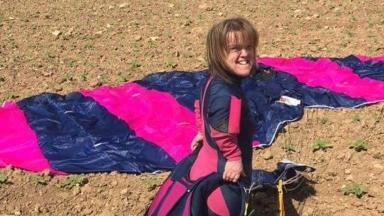 Mrs Gower described herself as a 'crazy trainee skydiver'
