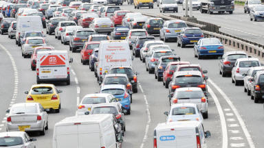 Central Scotland motorway disruption