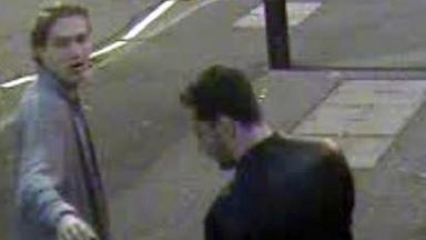 CCTV: Police hunting two men over west end assault.