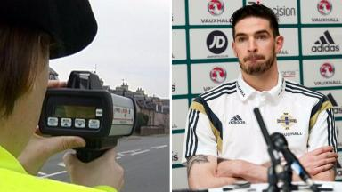 Speeding charge: Kyle Lafferty admitted doing 47mph in a 30mph zone.