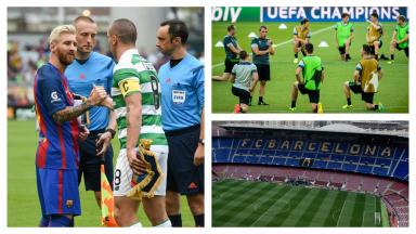 Barcelona take on Celtic in the Champions League.