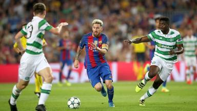 Hat-trick: Lionel Messi tormented Celtic's defence.
