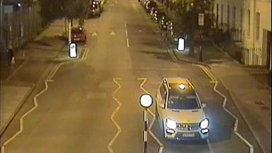 Police would like to speak to the driver of this car.