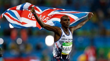 Mo Farah won the 5,000 and 10,000 metres at the Rio Olympics.