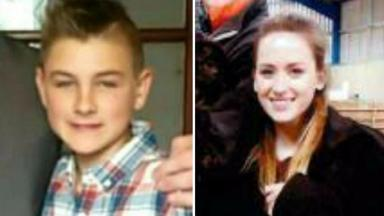 Traced: Elliott Lister, 12, and Aimee Wheelhouse, 13, have been found safe and well.