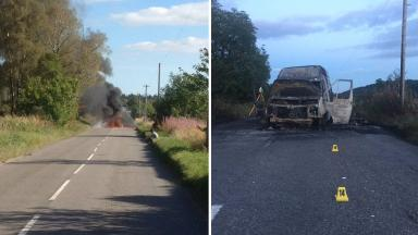 Crash scene: Both vehicles were consumed by the blaze.