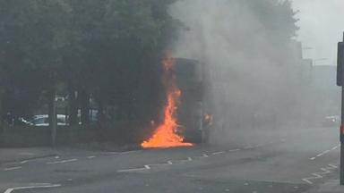 Blaze: Slateford Road was closed by the emergency services.