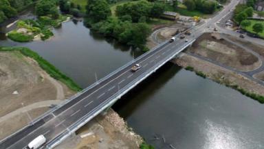Bridge: The third Don crossing opened in June.