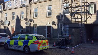 Jute Street: Man fell from scaffolding outside house.