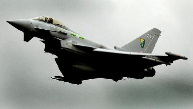 Typhoon jets were scrambled from two bases.