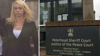 Guilty: Pauline Flynn was convicted at Peterhead Sheriff Court.