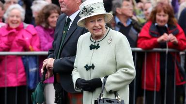 Ballater: The Queen during previous visit to Aberdeenshire town (file pic).