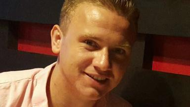 Missing Corrie McKeague, 23, who is based at RAF Honington, was last seen in Brentgovel Street in Bury St Edmunds . Image from Suffolk Constabulary