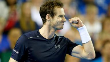 Next round: Andy Murray has taken another step closer to Australian Open glory.