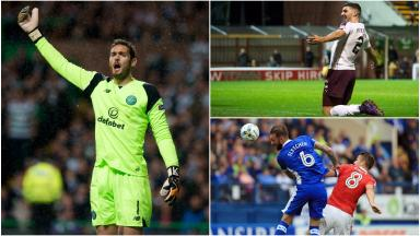 Clockwise: Craig Gordon, Callum Paterson and Steven Fletcher have all been playing for their clubs recently.