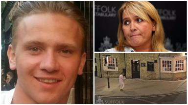 Corrie McKeague and his mother Nicola Urquhart. Missing Dunfermline RAF serviceman
