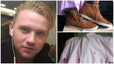 Composite of clothes Corrie McKeague was wearing when he was last seen in Suffolk