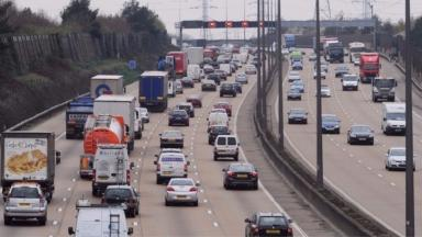 The lorry had been travelling northbound on the M25.